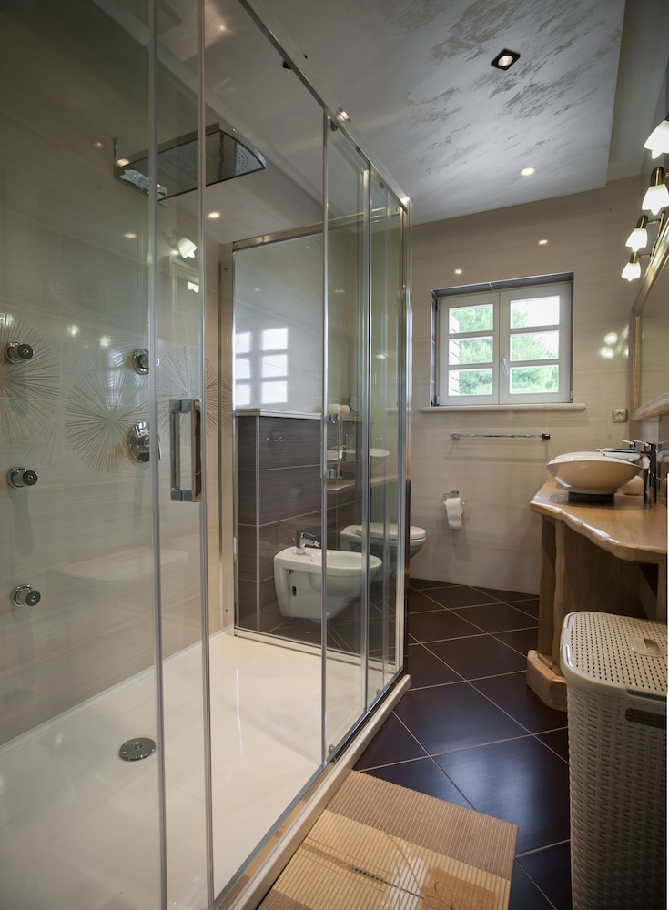 Bathroom, High-lux Villa Vikki With Pool and Seaview
