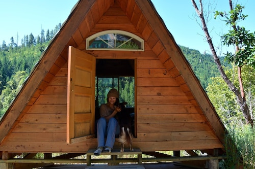 A-frame, Off-grid, Rustic Cabin