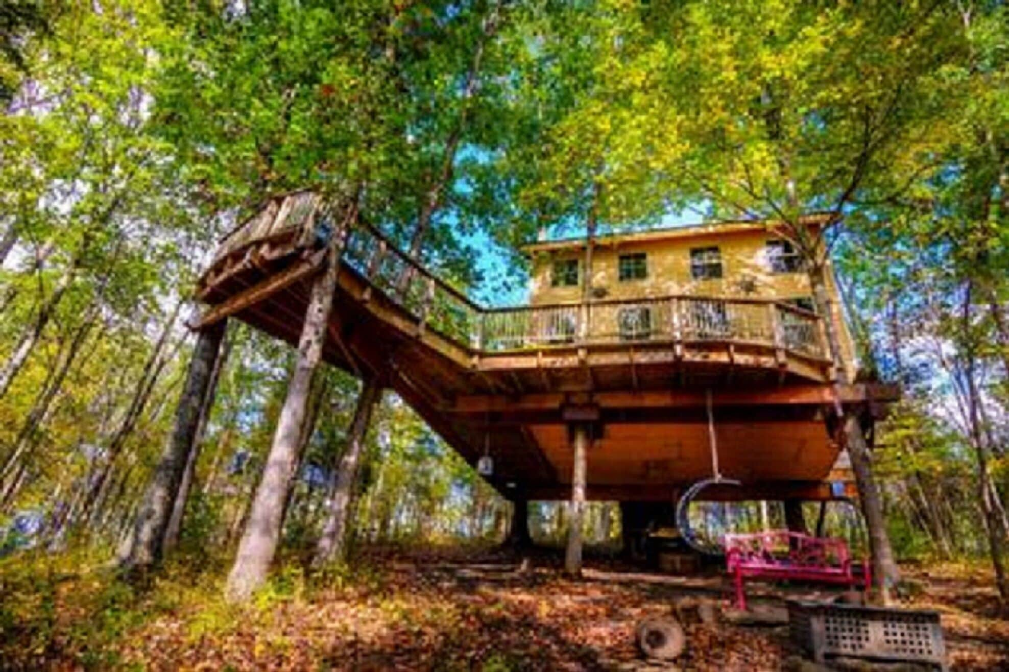 Picture of: Stay In Tree House Built By Treehouse Master Pete Nelson Off The Grid In Maysville Ky Expedia