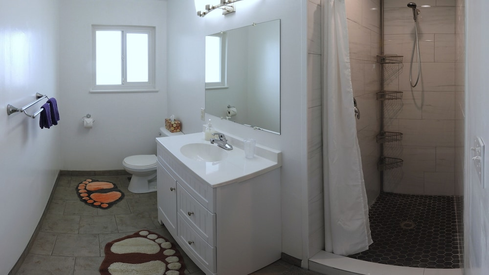 Bathroom, Feel at Home During Your Visit by Staying at a Real House in a Vancouver Suburb