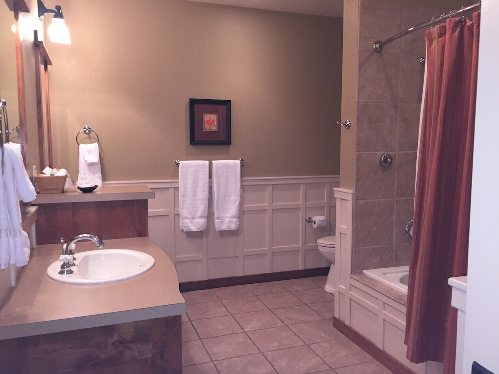 Bathroom, One Bed Lux Suite Mt View 373