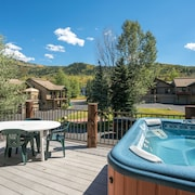 Hot Tub Deck in Steamboat Springs by RedAwning