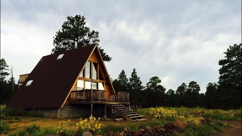 A-frame Cabin With Loft and Views on 1.5 Acres in the Coconino National Forest