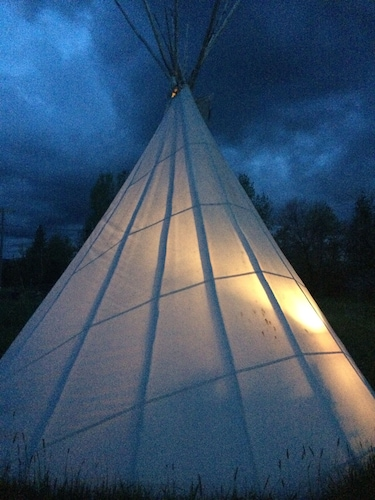 Sleep In Comfort-tipi Style, Under The Stars- Stay Warm Around The Fire -pit