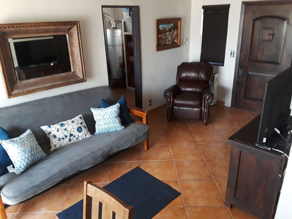 Living Room, Beach Front Casita With a lot of Charm Inside the Gated Community of La Salina