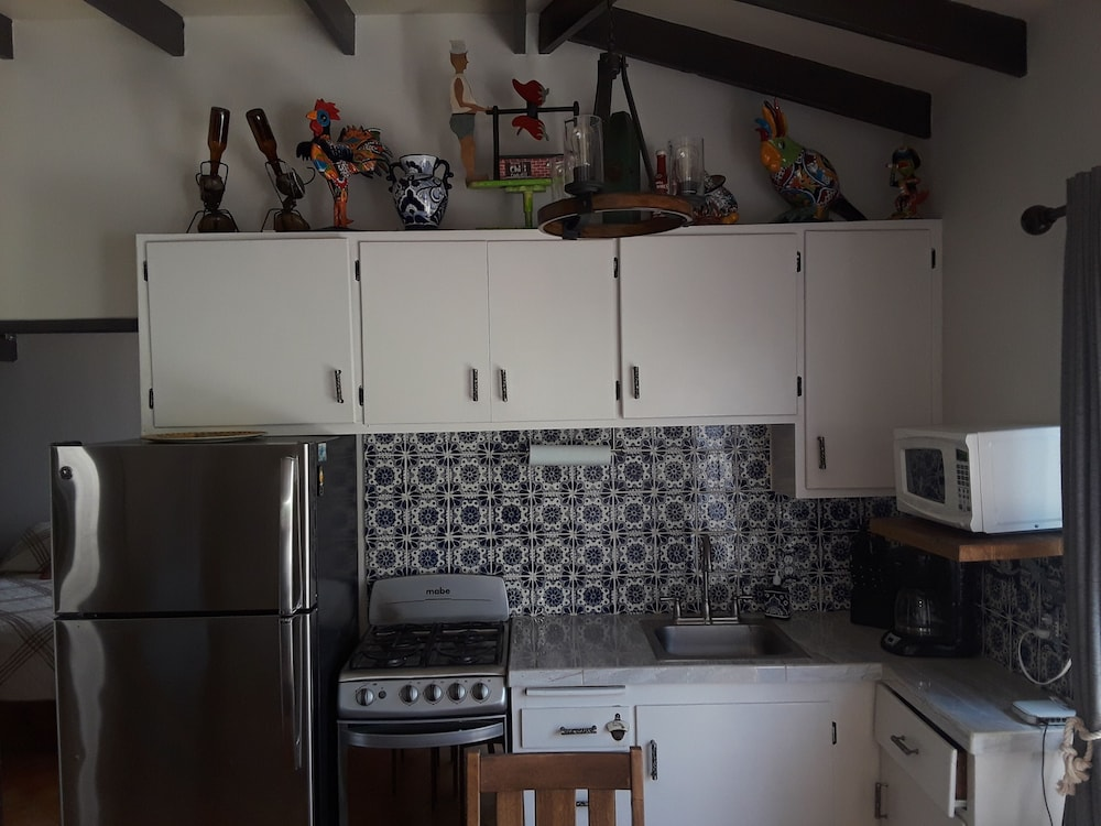 Private Kitchen, Beach Front Casita With a lot of Charm Inside the Gated Community of La Salina