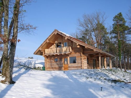 Exterior, Two log Houses With Swimming Pool and Sauna in Essoyes, Champagne