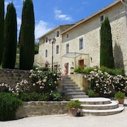 18th-century Provençal Country House Near Avingnon; View of Luberon and Ventoux