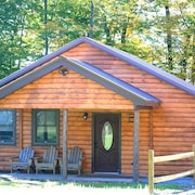 Rustic yet Modern Log Cabin, Cayuga Wine Trail, Dog Friendly, Open Year Round