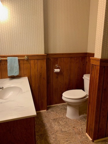 Bathroom, 4-season Historic Home in Town, Million Dollar View on Leech Lake!