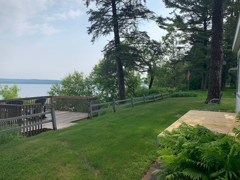 Property Grounds, 4-season Historic Home in Town, Million Dollar View on Leech Lake!