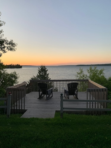 , 4-season Historic Home in Town, Million Dollar View on Leech Lake!
