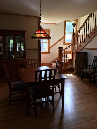 Private Kitchen, 4-season Historic Home in Town, Million Dollar View on Leech Lake!