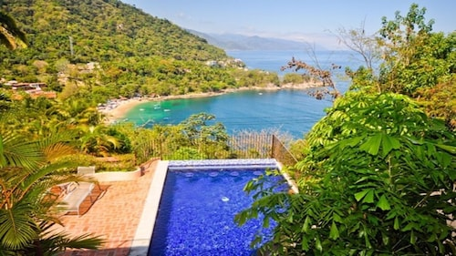Picturesque Views of Banderas Bay From Every Room on This Hillside Estate!