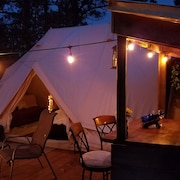 Sibley Bell Tent 2 @evanscliff, Beautiful Canyon High-rise Deck w/ Hot Tub!!
