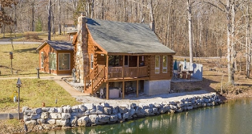 Authentic Log Cabin With Something for Everyone!