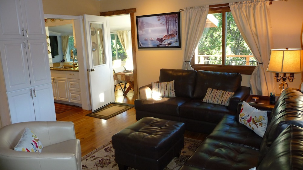 Living Room, *** LUXURIOUS TREE-HOUSE***  SPA + PANORAMIC LAKE VIEW - We thoroughly Disinfect