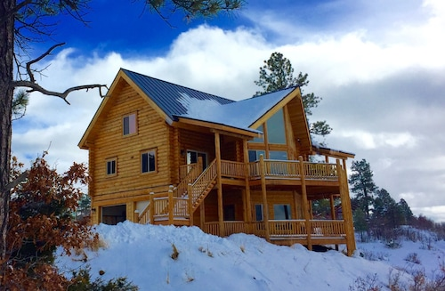 Luxury Colorado Cabin,panoramic Mtn Views,3 Bdr Suites-fall Specials 'til Sept30