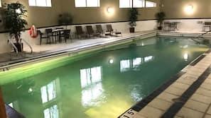 Indoor pool, a heated pool