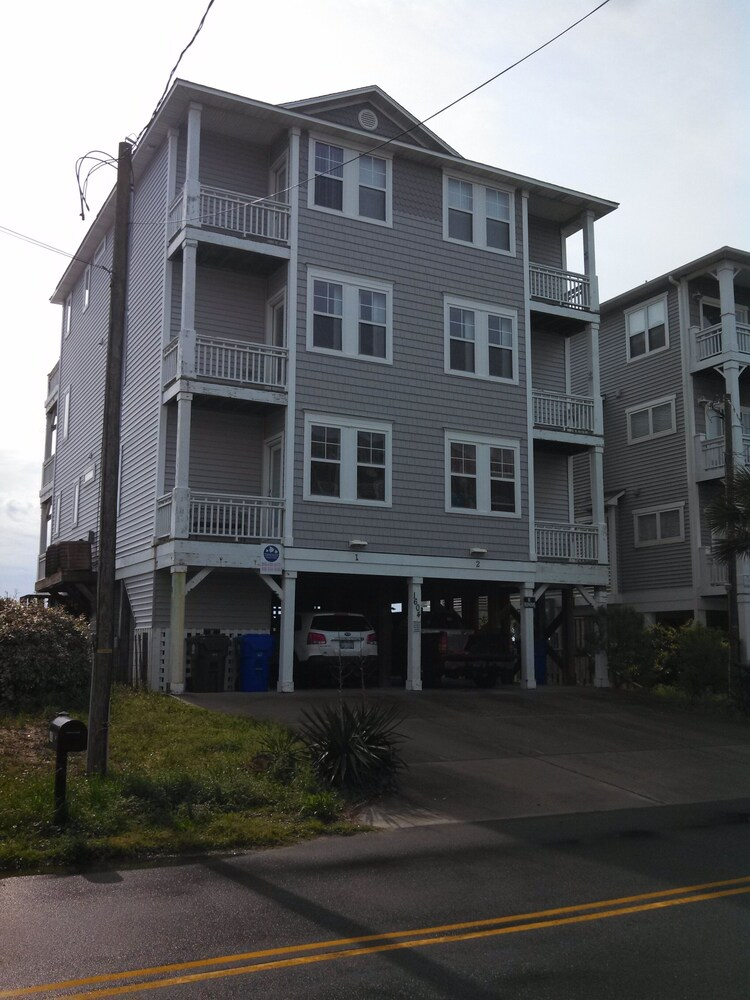 Exterior, Oceanfront Carolina Beach North End - Private Beach Access- Family/Pet Friendly