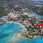 Cruz Bay In Town Estate Villa / 300° Views / Private Pool / Walk to Town & Beach