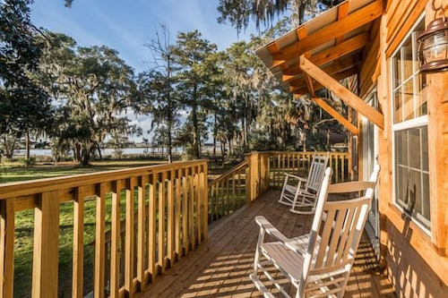 Riverfront House With Dock Sleeps 8