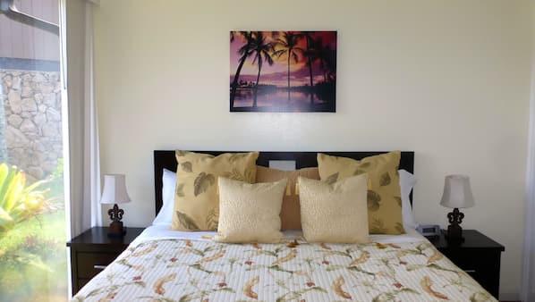 1 bedroom, travel cot, Internet