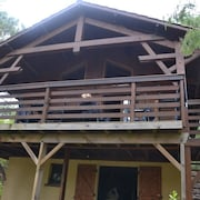 Wooden Chalet With Mezzanine, 3 km From the Ocean, 2 km From Lake Hourtin