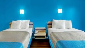 Free WiFi, bed sheets, alarm clocks