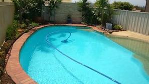 Indoor pool, outdoor pool, open 8:30 AM to 8:30 PM, pool umbrellas