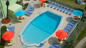 2 outdoor pools, pool umbrellas, sun loungers
