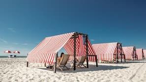 Private beach nearby, sun loungers, beach towels