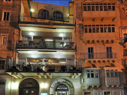 Front of Property - Evening/Night, The British Hotel