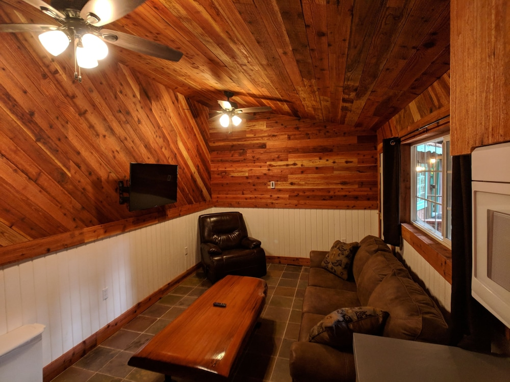 Living Room, Emerald Forest Cabins