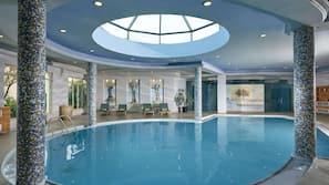 Indoor pool, 4 outdoor pools, open 10:00 AM to 6:00 PM, pool umbrellas
