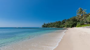 Private beach, snorkelling, windsurfing, sailing
