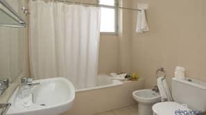 Ducha y bañera combinadas y secador de pelo