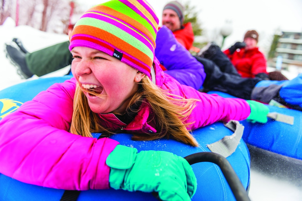 Snow tubing, The Lakeview Hotel, Shanty Creek Resort