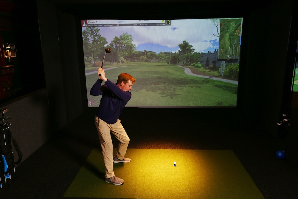 Indoor Golf Driving Range, The Lakeview Hotel, Shanty Creek Resort