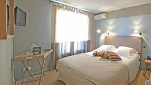 Ropa de cama de alta calidad, escritorio, sistema de insonorización