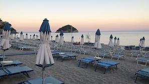 Beach nearby, beach cabanas, sun-loungers, beach umbrellas
