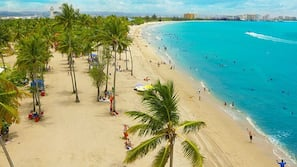 Beach nearby, beach umbrellas, beach volleyball, 10 beach bars