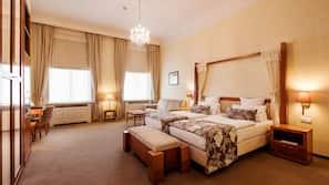 Allergitestade sängkläder, Select Comfort-madrasser och minibar