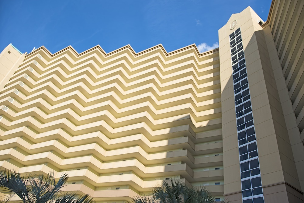 Exterior detail, Pelican Beach Resort & Conference Center