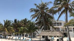 On the beach, beach massages, beach bar