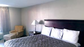 Pillowtop beds, blackout drapes, free WiFi, bed sheets