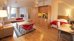 Desk, cots/infant beds, rollaway beds, free WiFi