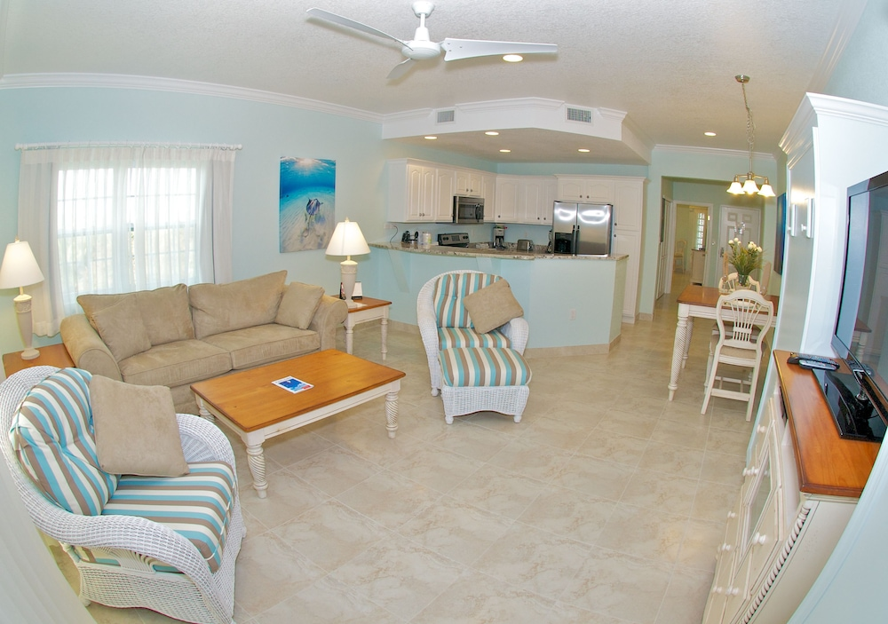 Living Area, Compass Point Dive Resort