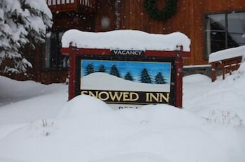Exterior detail, Snowed Inn