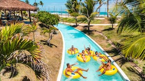 15 outdoor pools, open 9:00 AM to 5:00 PM, pool umbrellas, sun loungers